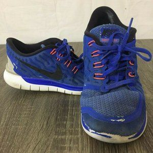 Women Athletic Running Shoes Nike Free 5.0 Blue Or